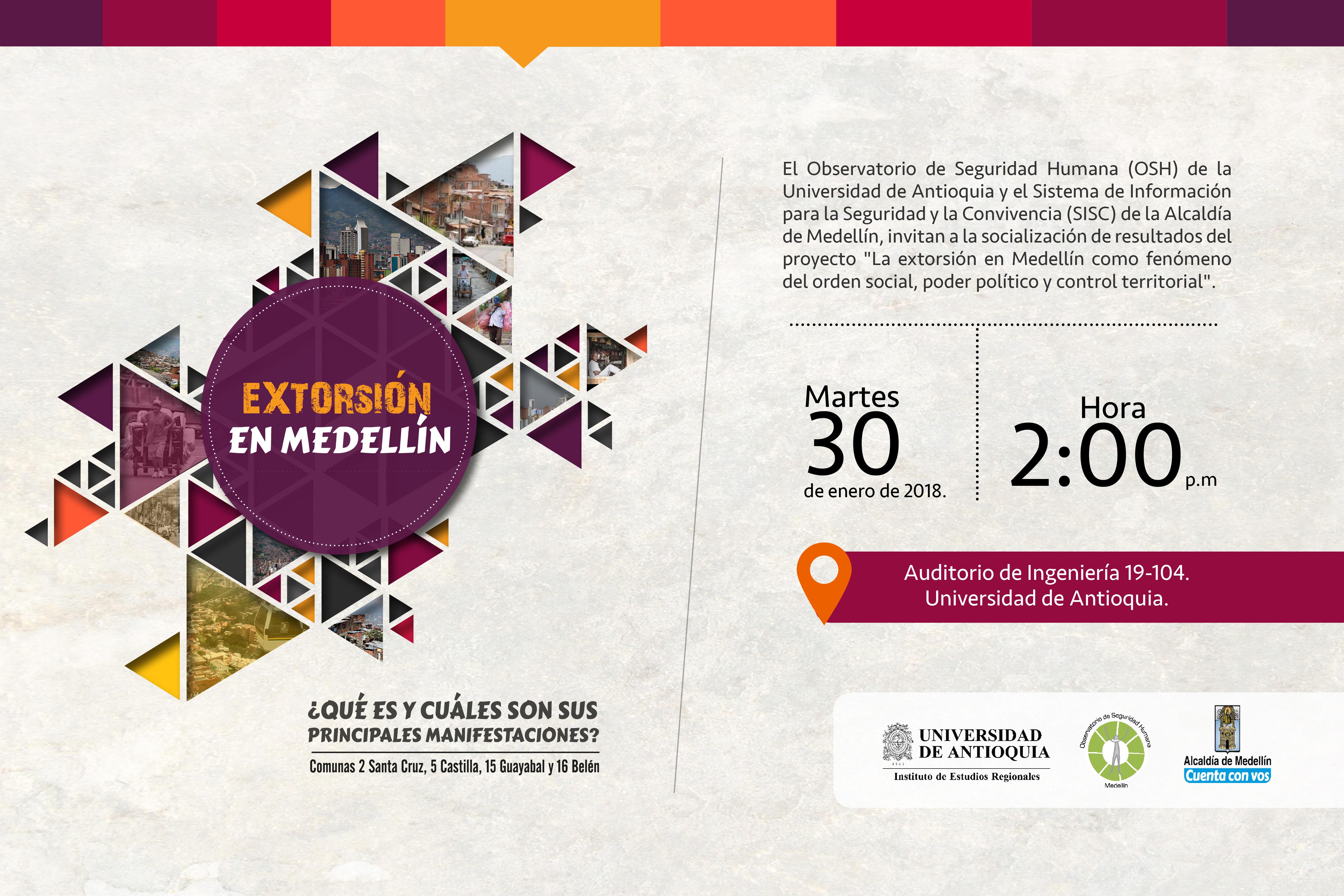 Extorsión en Medellín, ¿qué es y cuáles son sus principales manifestaciones? Comunas 2 Santa Cruz, 5 Castilla, 15 Guayabal y 16 Belén