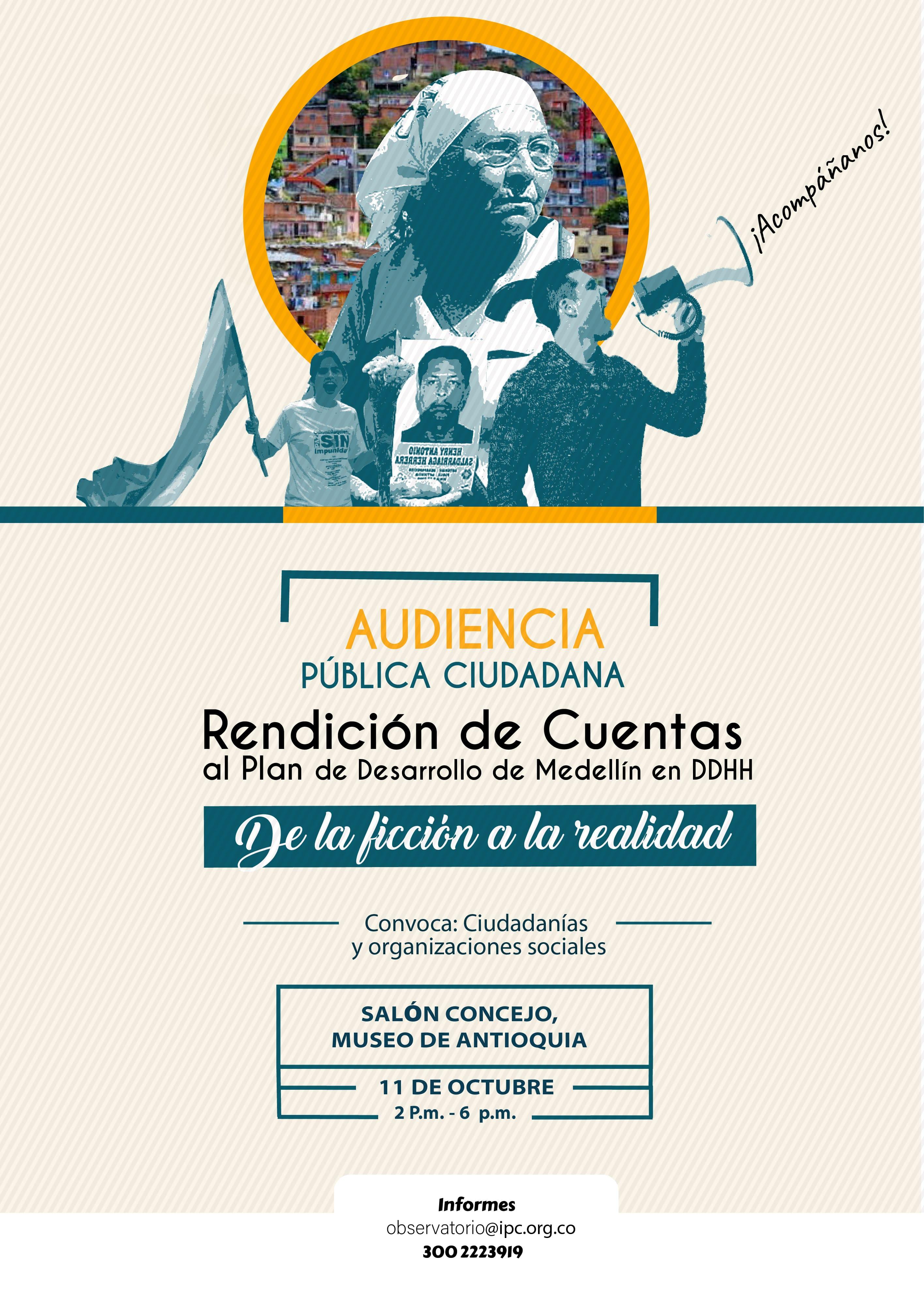 Audiencia Pública Ciudadana: Rendición de cuentas al Plan de Desarrollo de Medellín en DDHH