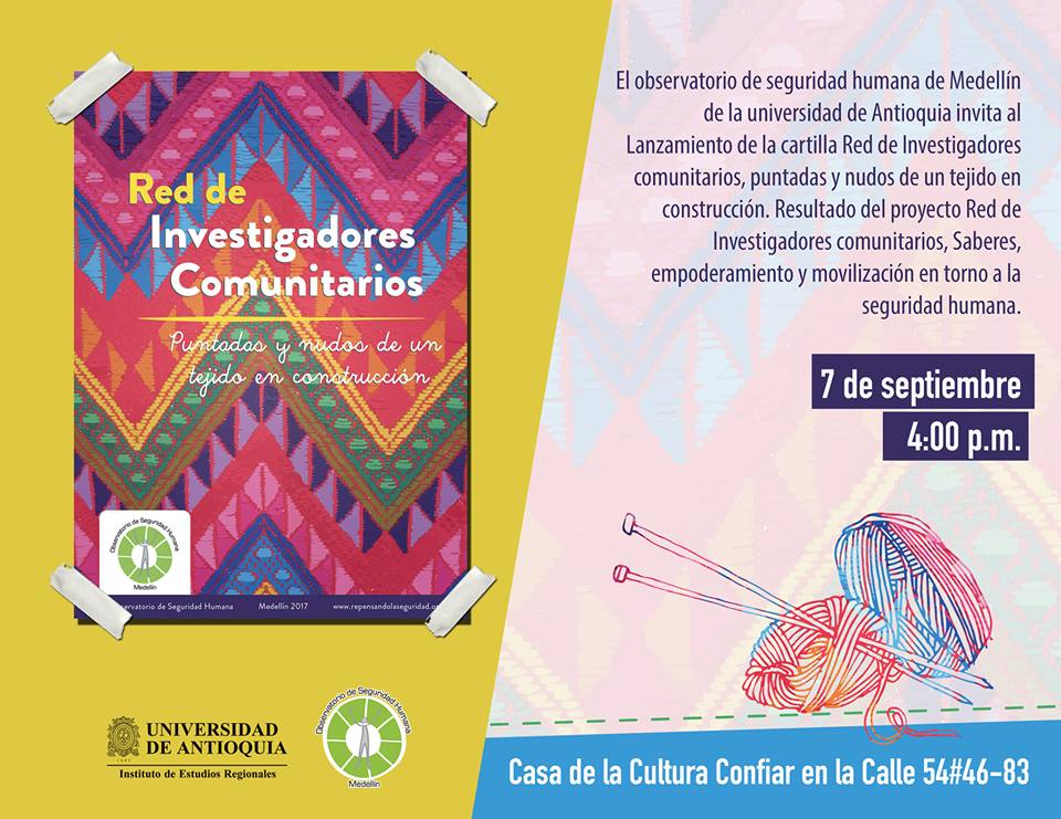Lanzamiento de Cartilla de la Red de Investigadores Comunitarios