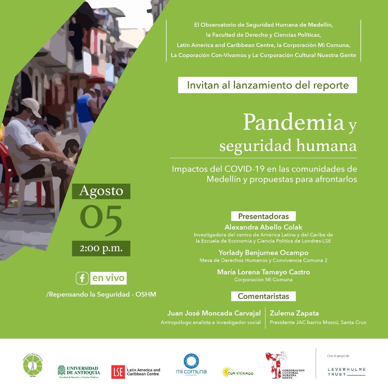 Lanzamiento del reporte Pandemia y Seguridad Humana